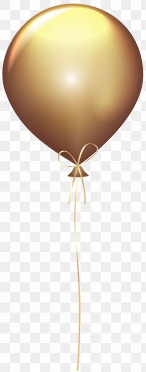 Gold Balloon Transparent Clip Art Image - Balloon Gold Clip Art PNG