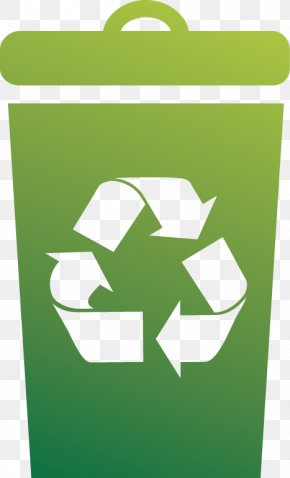 A Trash Can - Recycling Symbol Waste Recycling Bin PNG