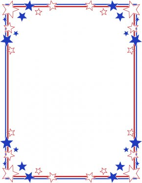 Star Frame Cliparts - Independence Day Flag Of The United States Clip Art PNG