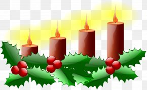 Church Candles - Advent Sunday 4th Sunday Of Advent Advent Candle Clip Art PNG