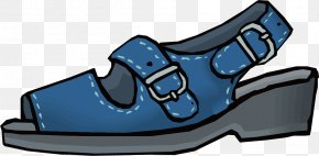 Blue Vector Ms. Sandals - Slipper Shoe Sandal PNG