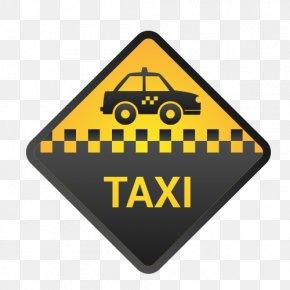 Taxi Vector - Checker Taxi Logo Yellow Cab PNG