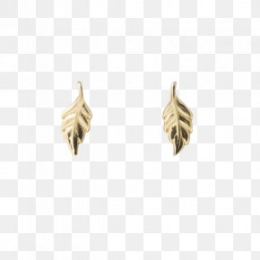 Gold Leaf - Earring Jewellery Gold Leaf Silver PNG