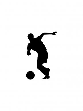 Soccer Player Silhouette - Football Player Sport Clip Art PNG