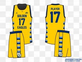 Basketball Uniform - T-shirt Marquette Golden Eagles Men's Basketball Jersey Uniform PNG