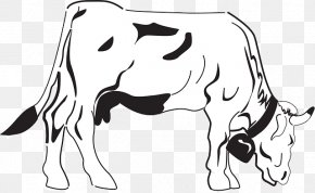 Cow Herd Clipart - Cattle Grazing Clip Art Coloring Book Livestock PNG