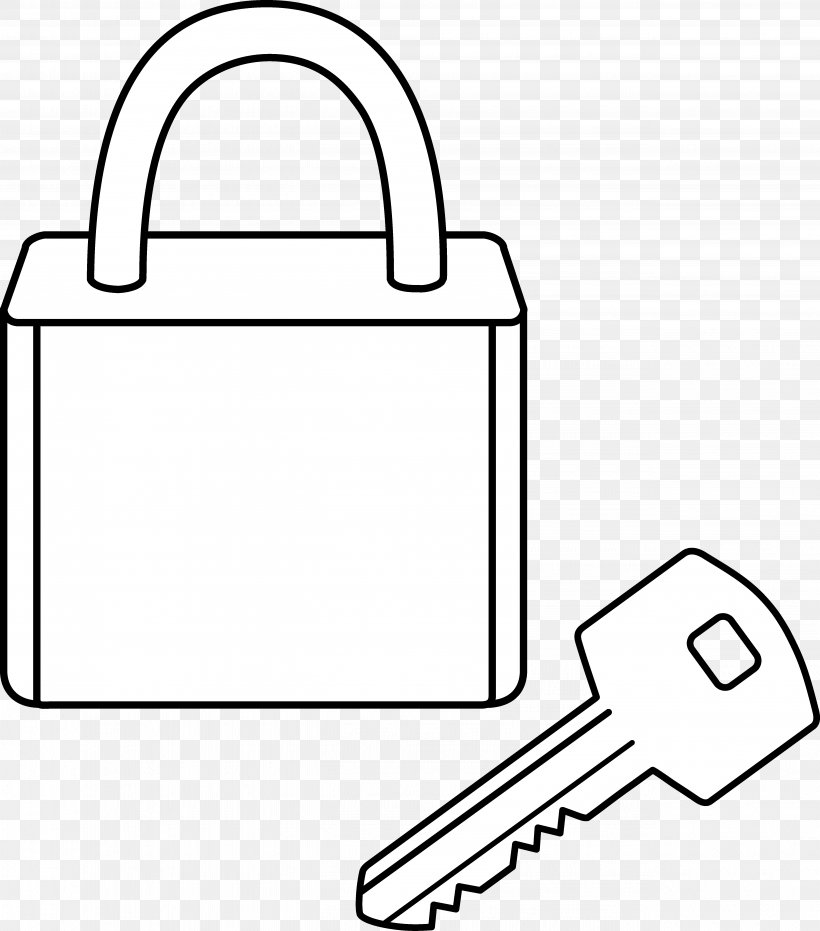 Coloring Book Padlock Key Clip Art, PNG, 5144x5841px, Coloring Book, Area, Black, Black And White, Brand Download Free