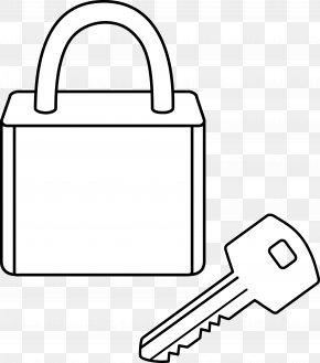 Lock Cliparts - Coloring Book Padlock Key Clip Art PNG