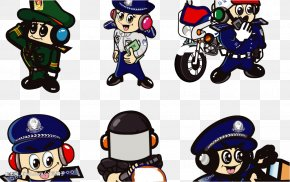 Ride The Police - Police Officer Cartoon Q-version PNG