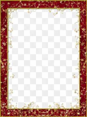 Red Flower Frame Image - Picture Frame Display Resolution PNG
