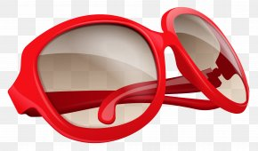 Red Sunglasses Cliparts - Sunglasses Red Clip Art PNG