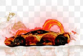 Colorful Sports Car - Automotive Design Car PNG