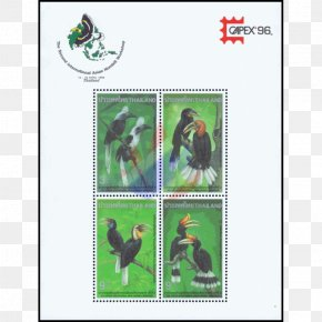 Hornbill - Postage Stamps Thailand Miniature Sheet Sheet Of Stamps Thai Baht PNG