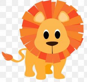 Cartoon Lion - Giraffe Lion Cartoon Infant Clip Art PNG