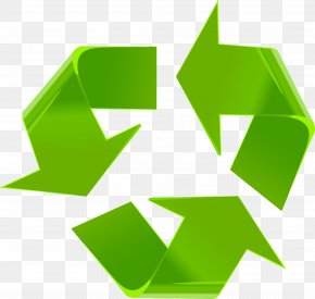 Green Recyclable Sign - Arrow Euclidean Vector Clip Art PNG