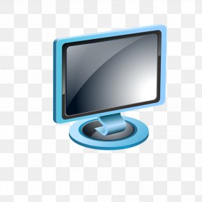 Blue Computer Screen - Computer Adobe Illustrator Download PNG