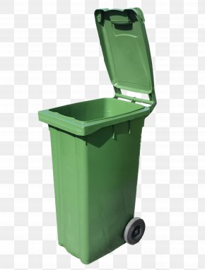 Green Trash Can - Waste Container Recycling Bin PNG