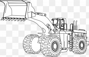 Excavator - Caterpillar Inc. Heavy Machinery Coloring Book Loader PNG