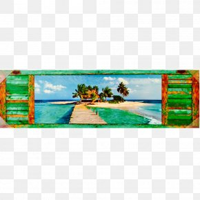 Watercolor Island - Panoramic Photography Picture Frames Work Of Art PNG
