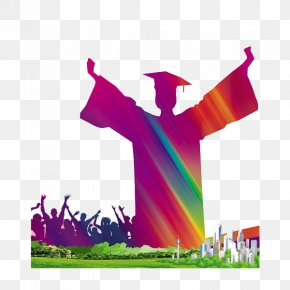 Graduated Students - Student Graduation Ceremony Bachelors Degree Academic Degree PNG