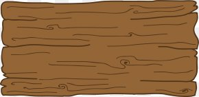Vector Cartoon Hand Painted Wooden - Wood Material Rectangle Font PNG