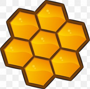 Yellow Honey Nest Honey Pattern - Busy Bee Daycare Portable Document Format PNG