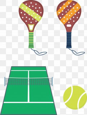 Tennis Racket Vector - Tennis Padel Racket Clip Art PNG