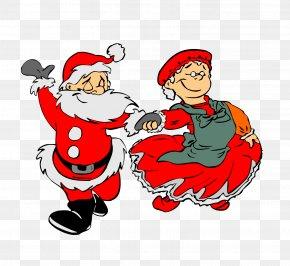 Santa Claus Vector - Mrs. Claus Santa Claus Reindeer Dance Animation PNG