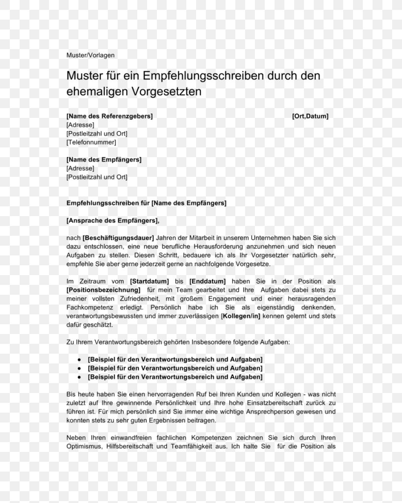Letter Of Recommendation Employment from img.favpng.com