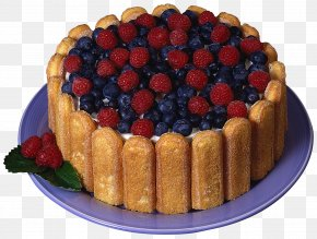 Charlotte Cake With Raspberries And Blueberries Picture - Charlotte Chocolate Cake Ladyfinger Christmas Cake PNG