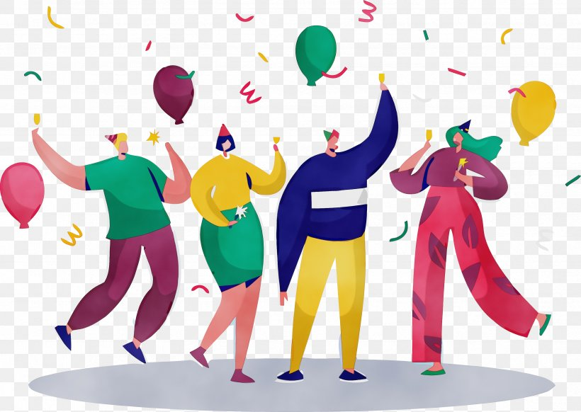 Social Group Community Interaction Celebrating Fun, PNG, 3348x2380px, New Year Party, Celebrating, Community, Fun, Gesture Download Free