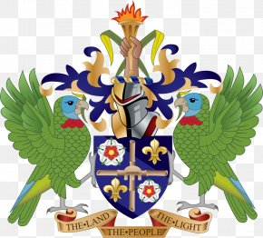 Coat Of Arms Of Saint Lucia National Coat Of Arms National Symbols Of Saint Lucia PNG