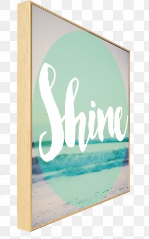 Beach Collection - Picture Frames Turquoise Rectangle Font PNG