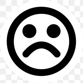 Black And White Sad Face - Public Domain Copyright Free Content Creative Commons License PNG