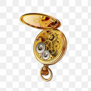 Record Time Pocket Watch - Pocket Watch Clock PNG