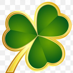 Gold - Shamrock Saint Patrick's Day Gold Clip Art Portable Network Graphics PNG