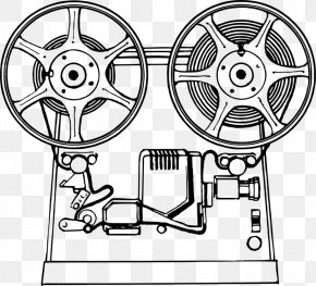 Film Clipart Movie Projector - Movie Projector Photographic Film Cinema PNG