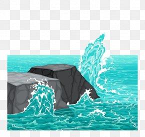 Water Flow - Wave Rock Sea Wind Wave Clip Art PNG
