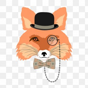 Fox - Fox Gentleman Illustration PNG