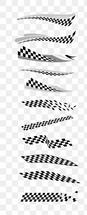 Vector Black And White Checkered Flag - Flag Euclidean Vector PNG