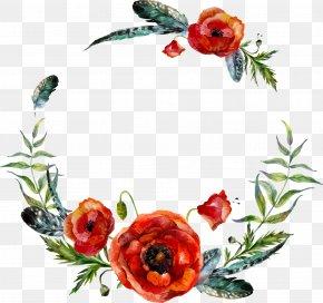 Vector Watercolor Flower Leaf Decoration - Wreath Flower Stock Illustration Illustration PNG