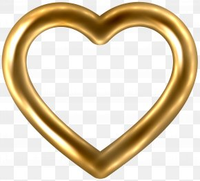 Transparent Gold Heart Clip Art Image - Gold Heart PNG
