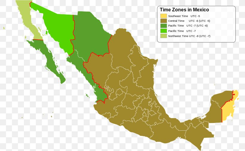 Mexico Central Time Zone United States Map, PNG, 800x506px ...