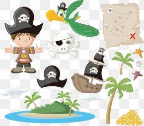 Cartoon Pirate Material - Piracy Cartoon Royalty-free Illustration PNG