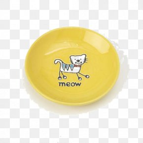 Pets Material Plane - Plate Saucer Yellow Cup Bowl PNG