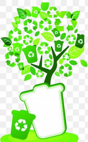 Green Tree - Waste Container Recycling Bin Environmental Protection PNG