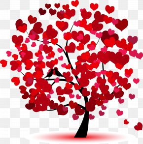 Love Trees - Heart Tree Cushion Throw Pillow PNG