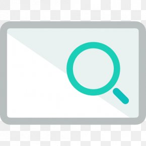 A Blue Magnifying Glass - Magnifying Glass Logo Icon PNG