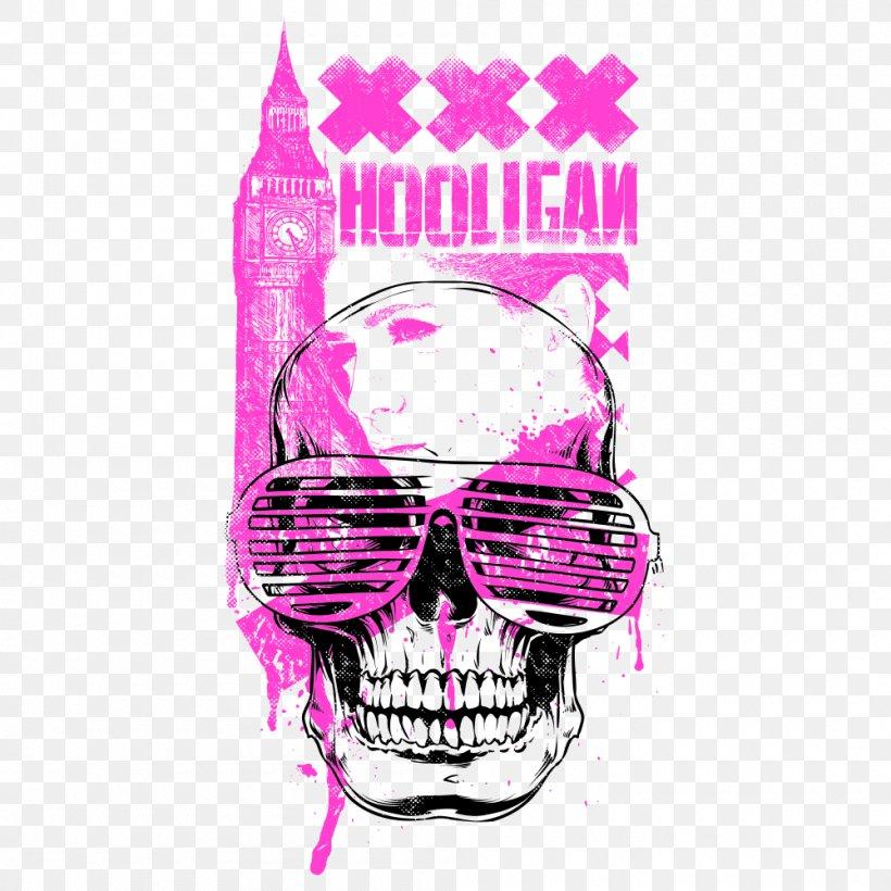 Printed T-shirt Hoodie Long-sleeved T-shirt, PNG, 1000x1000px, Tshirt, Bone, Brand, Clothing, Crew Neck Download Free
