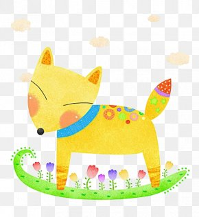 Hand Painted Fox - Thailand Fox Illustration PNG